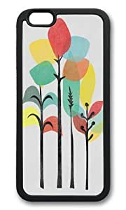Apple Iphone 6 Case,WENJORS Adorable Tropical Groove gray Soft Case Protective Shell Cell Phone Cover For Apple Iphone 6 (4.7 Inch) - TPU Black