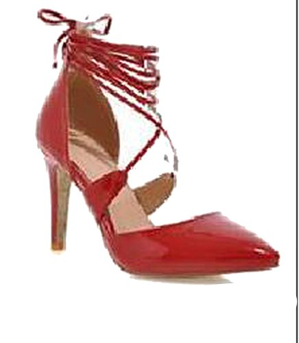 Sky-Pegasus High Heels Fashion Sexy High Heel Sandal Women Pumps Wedding Sandal Pumps 7 Colors Size 32-42,Red,10.5