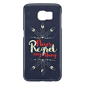 Loud Universe Samsung Galaxy S6 3D Wrap Around Never Regret Anything Print Cover - Blue