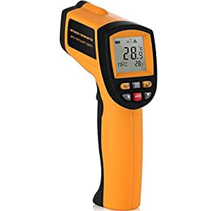 MeMeDa GM700 Portable Non-Contact Laser Infrared IR Digital LCD Thermometer Tester Measurement Range: Between -50 °C and 700 °C (Between -58 °F and 1292 °F)