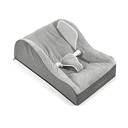 Baby Delight Nestle Nook Comfort Plush Infant Napper | Grey | Comfortable and Safer Place for Your Baby to Nap and Lounge | Breathable Side Walls | Portable | Cover (Infant Recliner)
