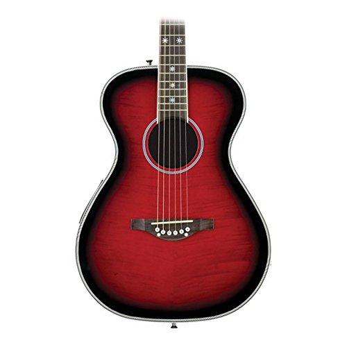 Daisy Rock Pixie Acoustic-Electric RasPhosphor Bronzeerry Burst (Electric Rock Guitar Body)