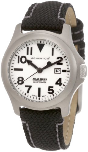 Momentum Women's 1M-SP01W14B Atlas White Dial Black Snowboard Nylon Watch