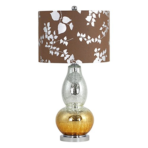 Aspire Isola Glass Table Lamp, Brown (Lamp Table Aspire)
