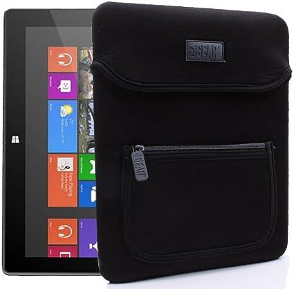 LG Compatible avec Apple Noir//Gris USA Gear Housse Etui Tablette 10 Rembourr/ée Protection Acer Samsung Sony et Plus Encore Archos Fujitsu Dell Nokia Asus HP Lenovo Zenpad