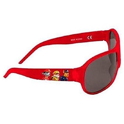 68cf633ff7 Patrulla Canina - Gafas de Sol 100% UV, color Rojo.: Amazon.es ...