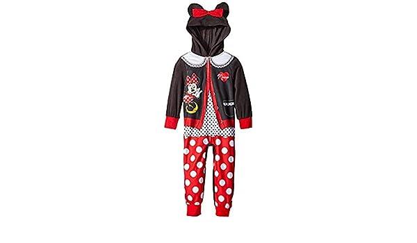Disney Girls Size 8 Cardigan Minnie Mouse Hooded Blanket Sleeper