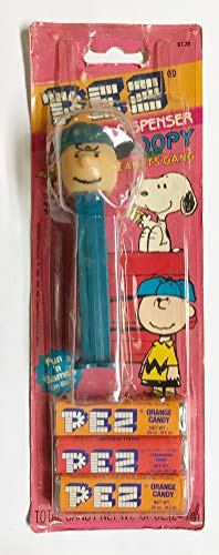 (1990's Vintage Peanuts Pez Candy & Dispenser Slovenia with Feet - Charlie Brown)