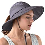 FURTALK Safari Sun Hats for Women Wide Brim UV UPF Ponytail Outdoor Hunting Summer Fishing Hiking Hat