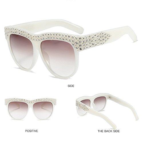 De De Playa Sol Al Gafas De Gafas Aire Sol De Mujer Libre Viaje Beige UV White De De Gafas Protección para Sol Ew7zq87HB