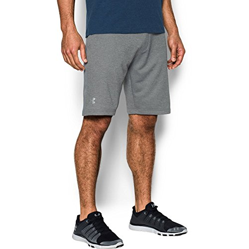 Under Armour Men's Tech Terry Shorts, True Gray Heather (025)/Silver, XXX-Large by Under Armour (Image #4)