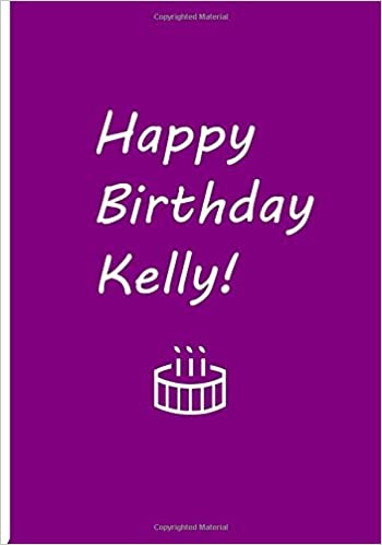 Happy Birthday Kelly Purple Personalized Journal Blank Lined