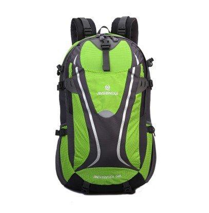 LINGE-Mochilas gran capacidad Mochila bolsa de viaje impermeable de excursionista al aire libre para hombres y mujeres 50L , blue Green