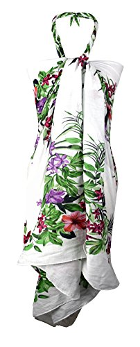 hawaiian wrap dress - 5