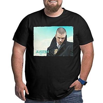 GEORGE MANNING Mens Big Size Particular Justin Timberlake T-Shirt Black