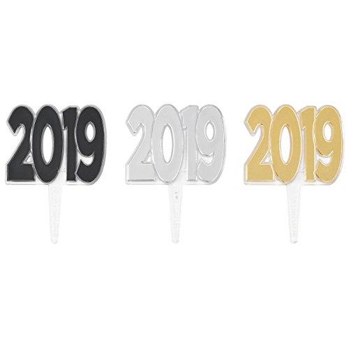 - 2019 Foil Cupcake Picks - 24 pc