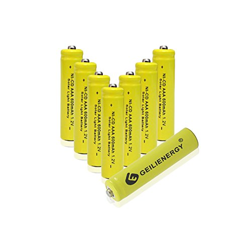 Image of GEILIENERGY NiCd AAA 1.2V 600mAh Triple A Rechargeable Batteries for