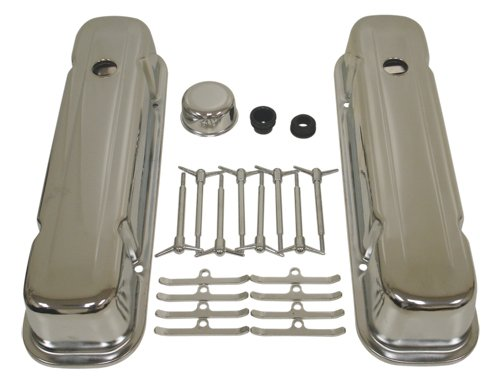 (1959-77 Compatible/Replacement for PONTIAC BIG BLOCK 326-350-389-400-421-425-455 CHROME STEEL ENGINE DRESS UP KIT - SMOOTH)