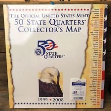 US Commemorative Statehood Quarters Collector's Edition Coin Map ! Officially Licensed Product that Holds all 50 Statehood Quarters issued from 1999-2008 ! HUGE Map that Measures 26 x 16 Inches ! Makes a Great Gift ! As Seen on TV ! - Commemorative Statehood Quarters