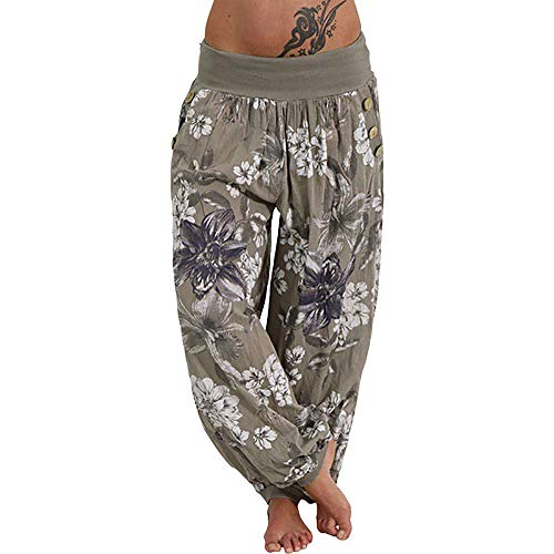 Survivor Green T-shirt - Wide Leg Lounge Pants Plus Size,Women Casual Loose Trousers Palazzo Yoga Pants (Army Green, 3XL/Waist 29.2-32.3'')