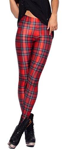 Bigood Legging Femme Pantalon de Crayon Collant Elastique Slim Imprimé