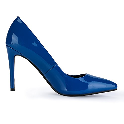 Dress High Toe Pump In4 Patent Blue Stiletto Women's Idifu Classic Heel Pointed nxzY8w56Iq
