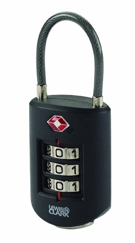 (Lewis N. Clark Travel Sentry Large Dial Cable Lock, Black, One)