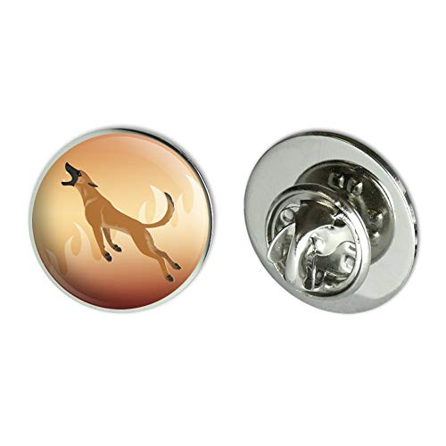 "GRAPHICS & MORE Belgian Malinois Dog Bite Training Metal 0.75"" Lapel Hat Pin Tie Tack Pinback"