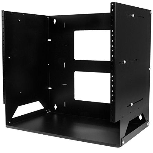 StarTech.com 8U Wall-Mount Server Rack with Built-in Shelf - Solid Steel - Adjustable Depth 12in to 18in (WALLSHELF8U)