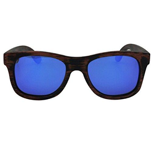 Gafas La Marco Natural Bambú Sol Green Blue Polarizado De Manera De Polarizado HAOYUXIANG De Madera tPqw0P5