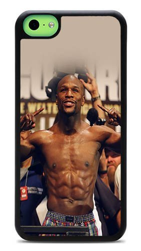 iPhone 5C Back Case - Floyd Mayweather Boxer Rugged PC Hardshell Case for 5C Black J-15