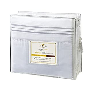 Clara Clark 1800 Premier Series 4pc Bed Sheet Set - King, White, (B00902WXR2) | Amazon Products