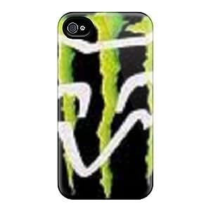 BZuRpZa1421hebaw Monster Fox Fashion Tpu 4/4s Case Cover For Iphone