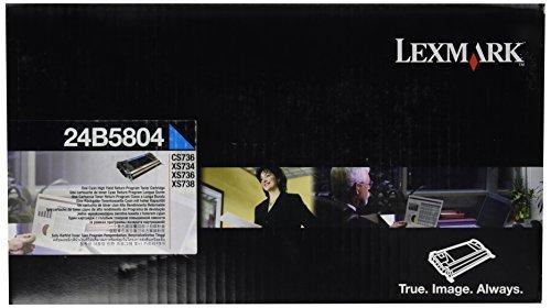 (LEXMARK CYAN HIGH YIELD RET PROG TONER CART CS736 - 24B5804 by Lexmark)