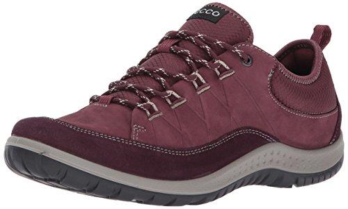 ECCO Women's Aspina Low Hiking Shoe, Mauve/Bordeaux, 40 EU / 9-9.5 US
