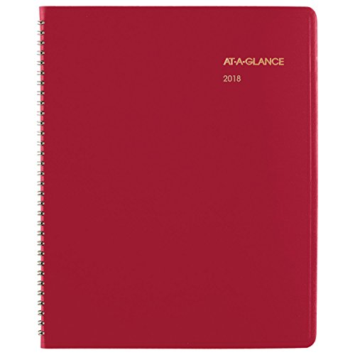"AT-A-GLANCE Monthly Planner, January 2018 - March 2019, 9"" x 11"", Fashion, Red (7025013)"