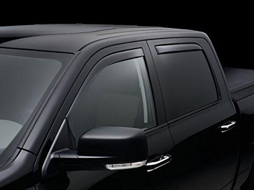 WeatherTech 2015 GMC Sierra/Sierra Denali 2500 3500 Crew Cab Custom Deflector Window Visor - Full Set Front & Rear - Dark Smoke