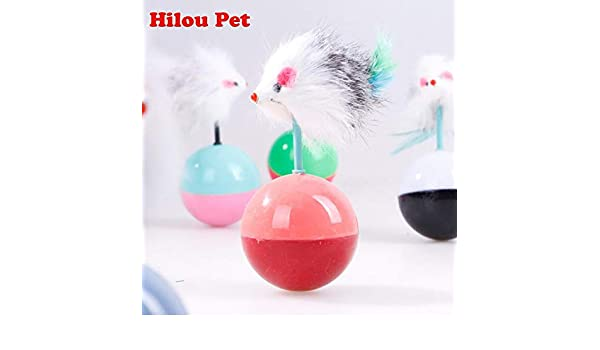 Amazon.com : Best Quality Durable cat Toys Mimi Favorite Fur Mouse Tumbler Plastic Toys Balls for Cats Dogs Play 5.5cm : Pet Supplies