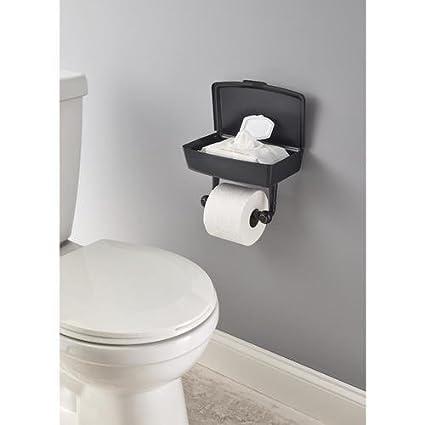 Amazon.com: Delta Porter Oil-Rubbed Bronze Toilet Paper Holder with Mobile Phone Storage: Home & Kitchen