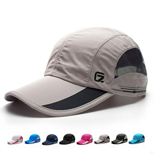 Running Hat (GADIEMKENSD Quick Dry Sports Hat Lightweight Breathable Soft Outdoor Run Cap (Classic upgrade,Light Gray))