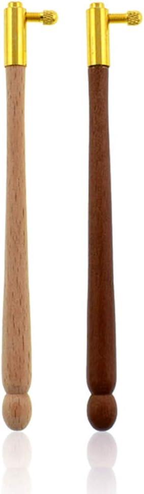 JIACUO Ricamo Tambour Uncinetto Francese con 3 Aghi Manico in Legno Utensili per Cucire a Maglia Accessori Artigianato Fai da Te