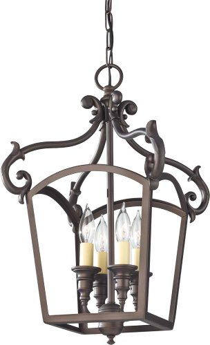 Feiss F2801/4ORB Luminary 4-Light Hall Chandelier, Oil Rubbed Bronze