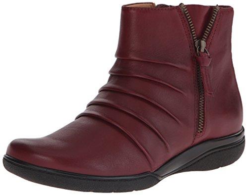Clarks Womens Kearns Blush Boot In Pelle Bordeaux