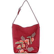 Alba Soboni Designed Women's PU Leather Embroidered Handbag Large Shoulder Bag