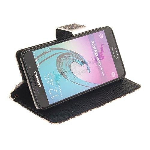 Cartoon Color Printing Malkästen Premium-PU-Leder-Kasten mit Kartensteckplätze und Handschlaufe Folio Stand Case für Samsung Galaxy A310 A3 2016 ( PATTERN : B , Size : Samsung Galaxy A310 A3 )