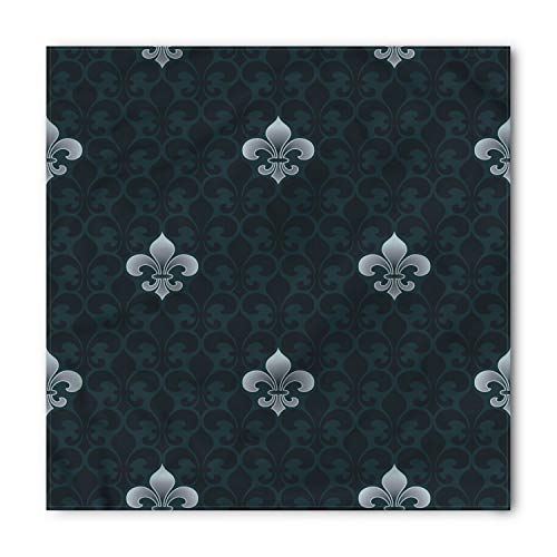 Mens Fleur De Lis - Lunarable Unisex Bandana, Fleur De Lis Antique Royal Pattern, Petrol Blue