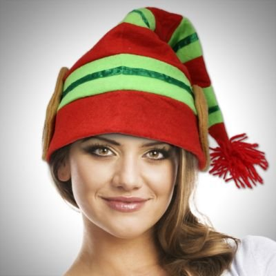 [Elf Hat with Ears] (Elf Hats For Adults)