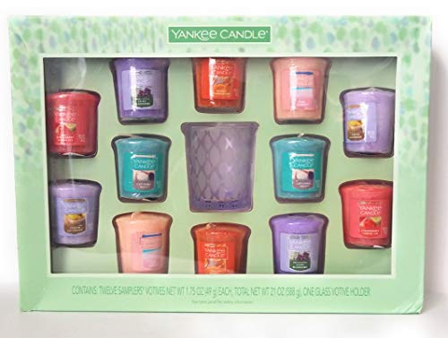 Yankee Candle Favorites Fragrances Votive Candle Set with Glass Holder 6 Scents ()