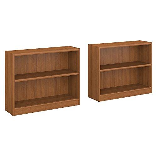 - Bush Furniture Universal 2 Shelf Bookcase Set of 2 in Royal Oak