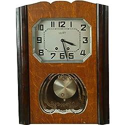 Vaney Vintage 1950 German Regulator Wall Clock Eames Era Transitional